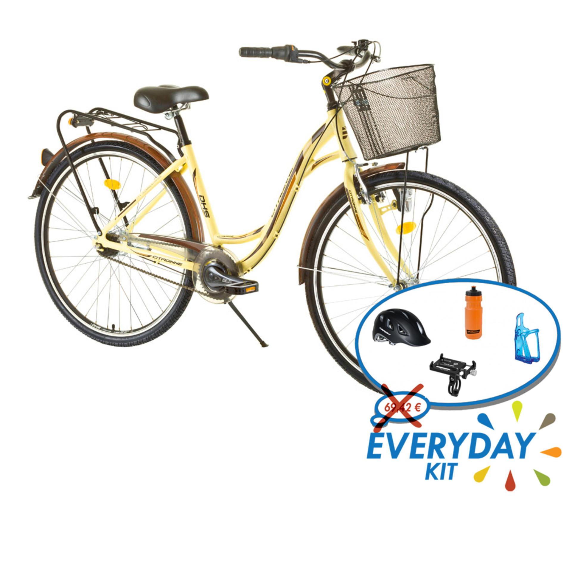 Bicicletta donna da città DHS Citadinne DHS 2838 Yellow 505mm