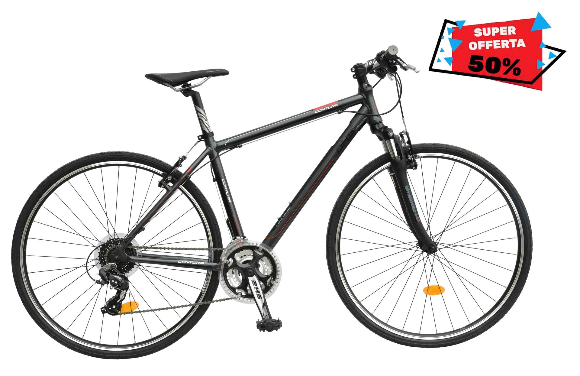 Bicicletta uomo da cross contura DHS 2865 Grey-Green 530mm