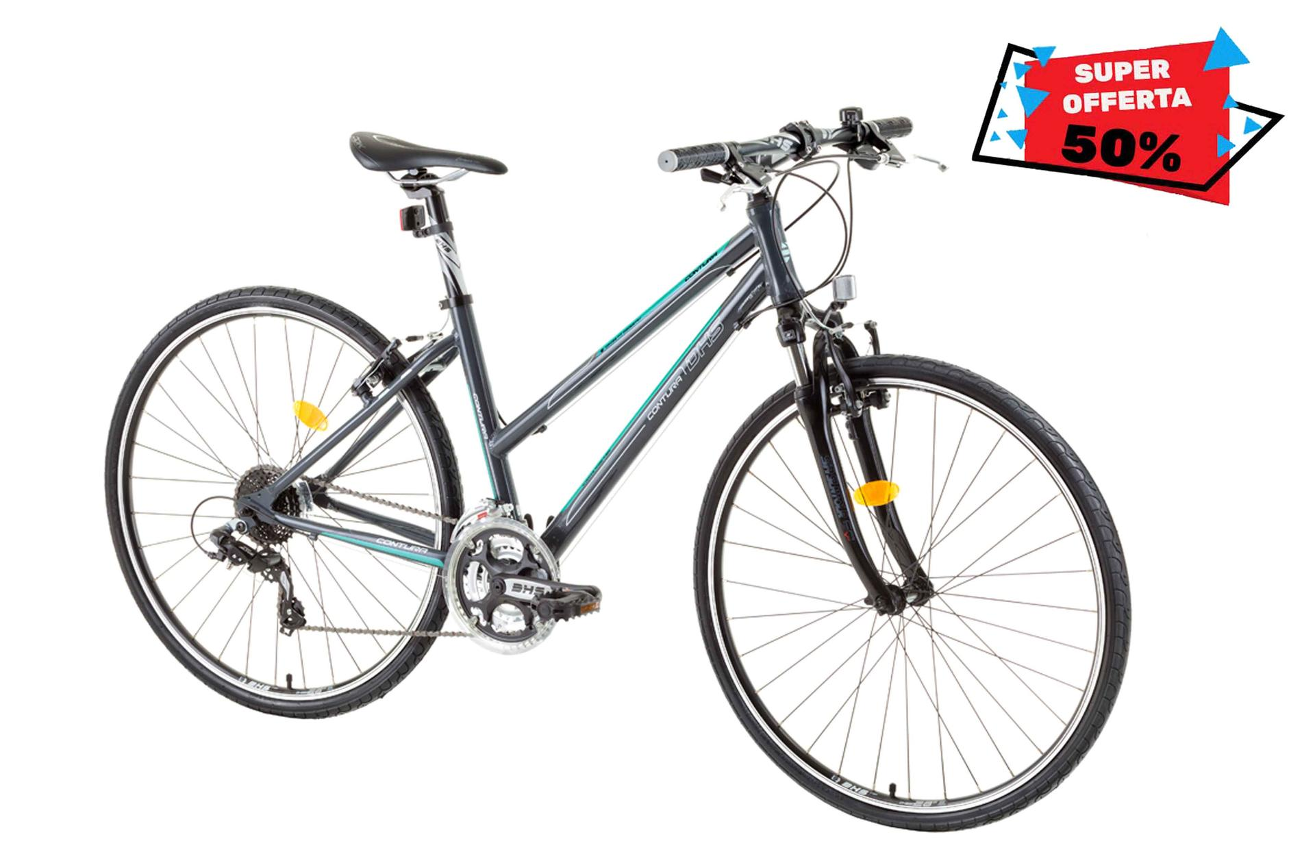 Bicicletta da cross da donna DHS 2866 Grey Green 440mm