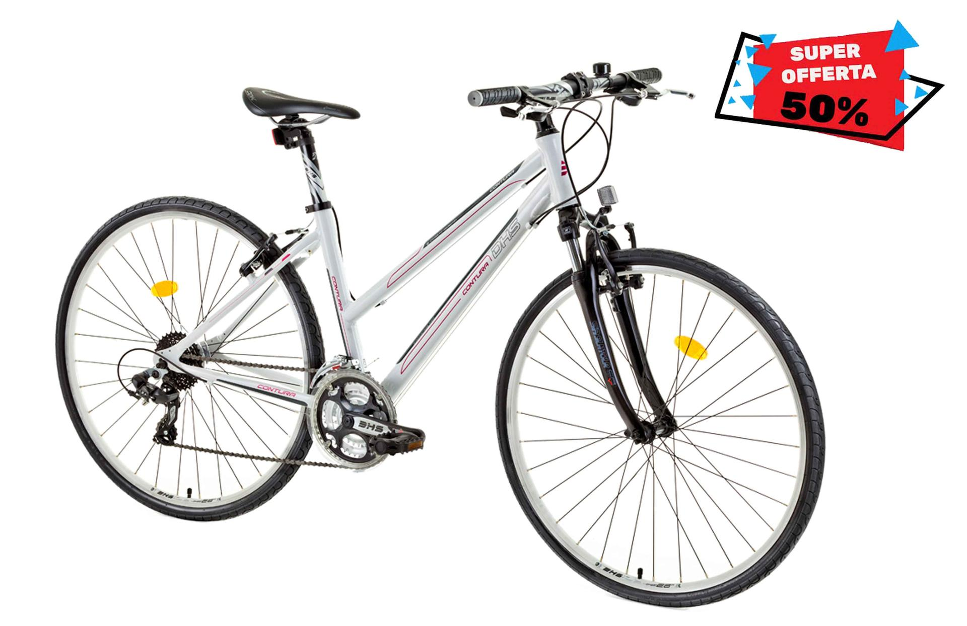 Bicicletta donna da cross DHS 2866 White 495mm