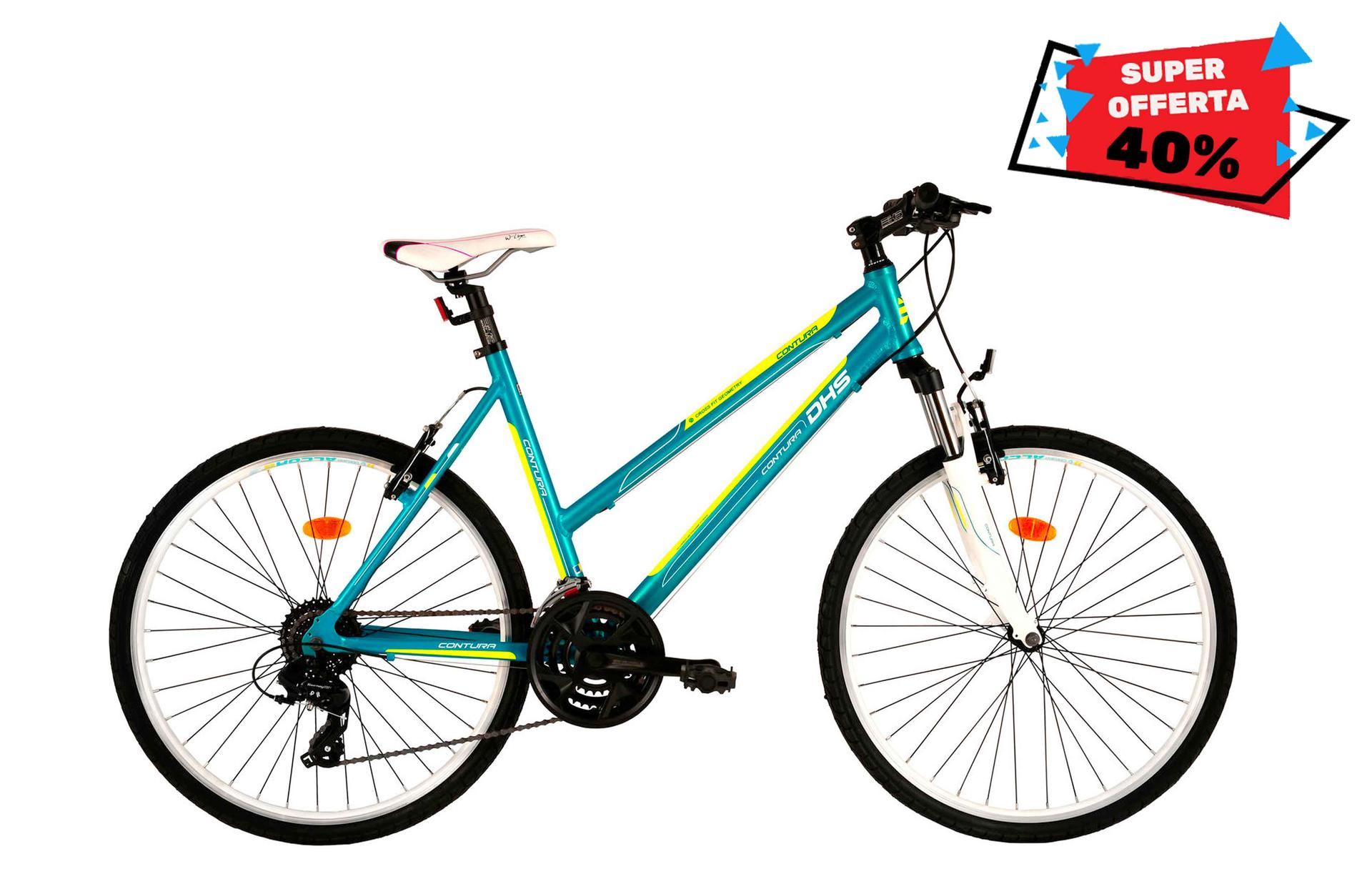 Bicicletta donna da cross DHS 2666 Smarald-Green 495mm