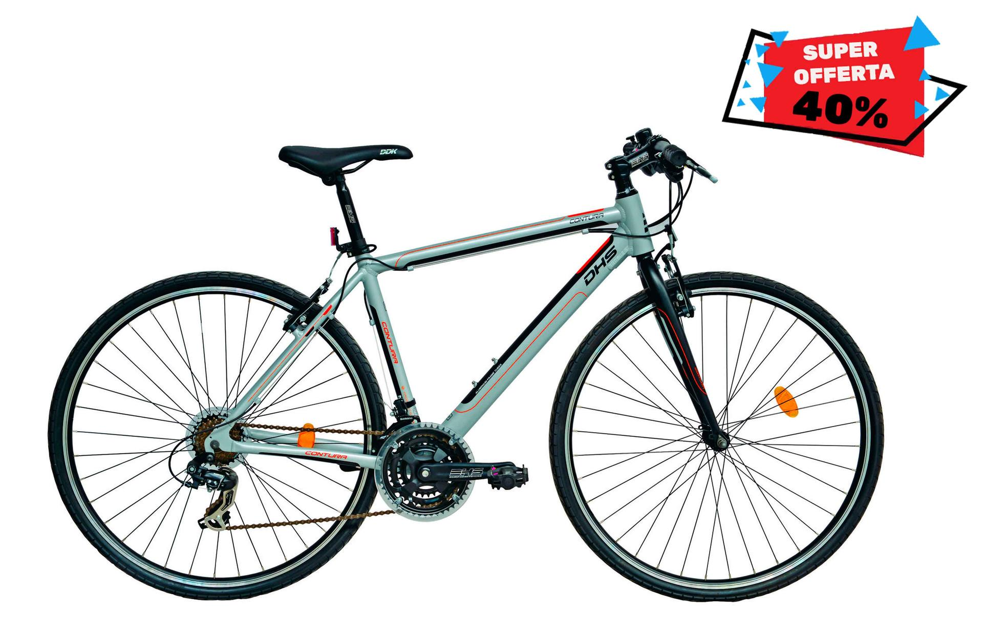 Bicicletta uomo da cross DHS 2863 Grey 530mm