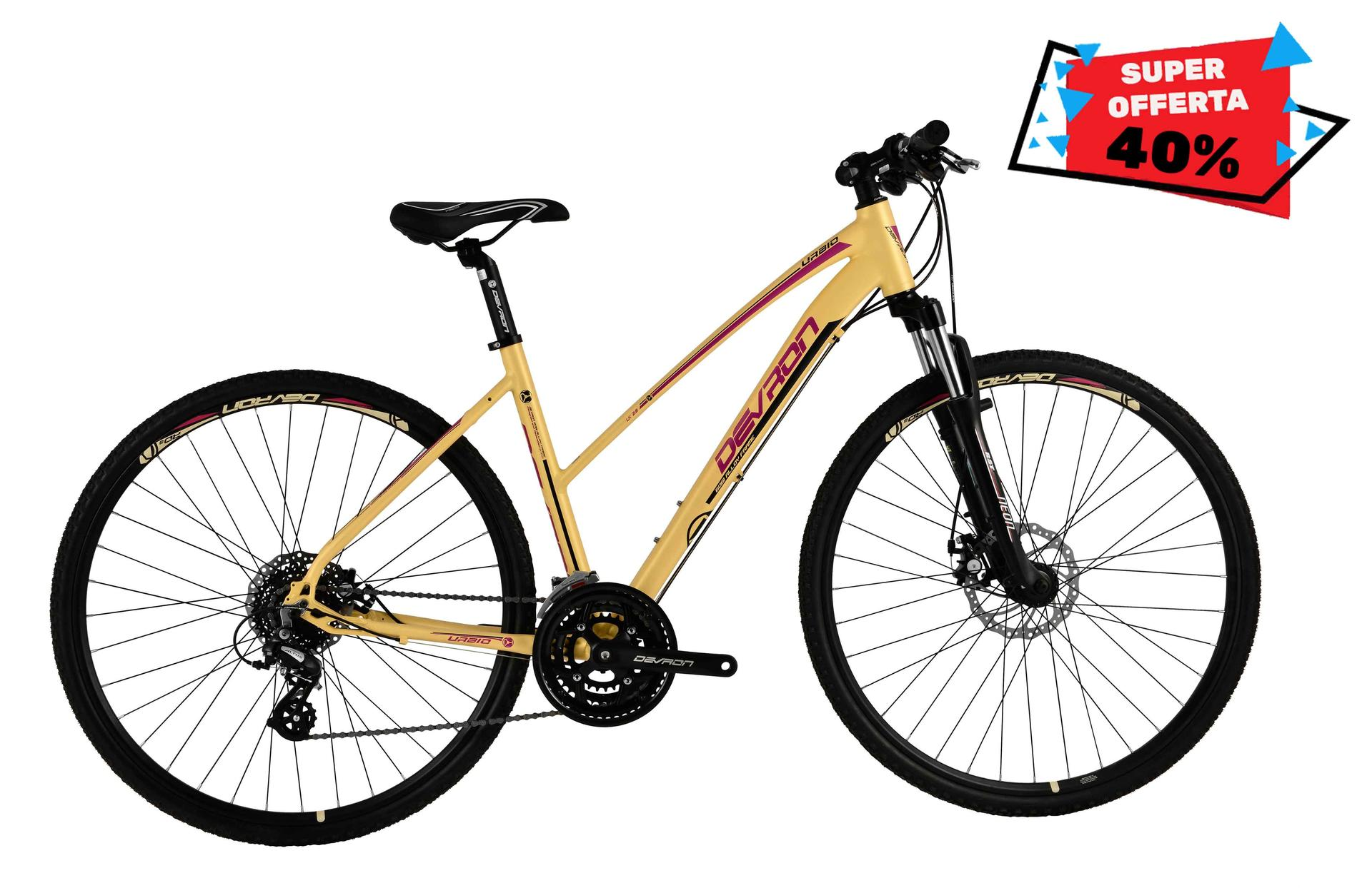 Bicicletta donna da cross Devron Lady U.Cros.LK2,8 Mandarin Dream 520 mm