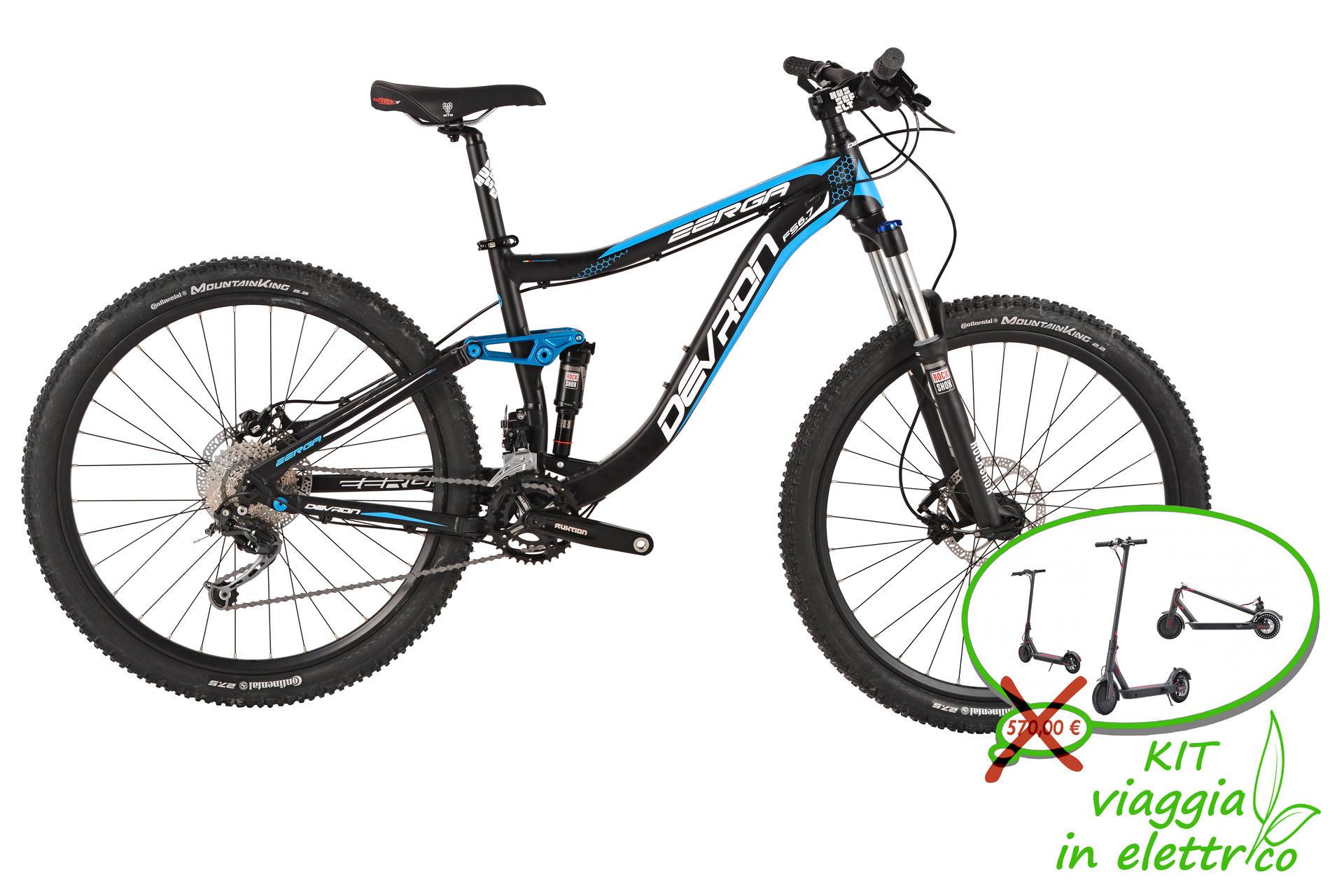 Mountain bike full suspension Devron Zerga FS6,7 430 mm Black-Blue
