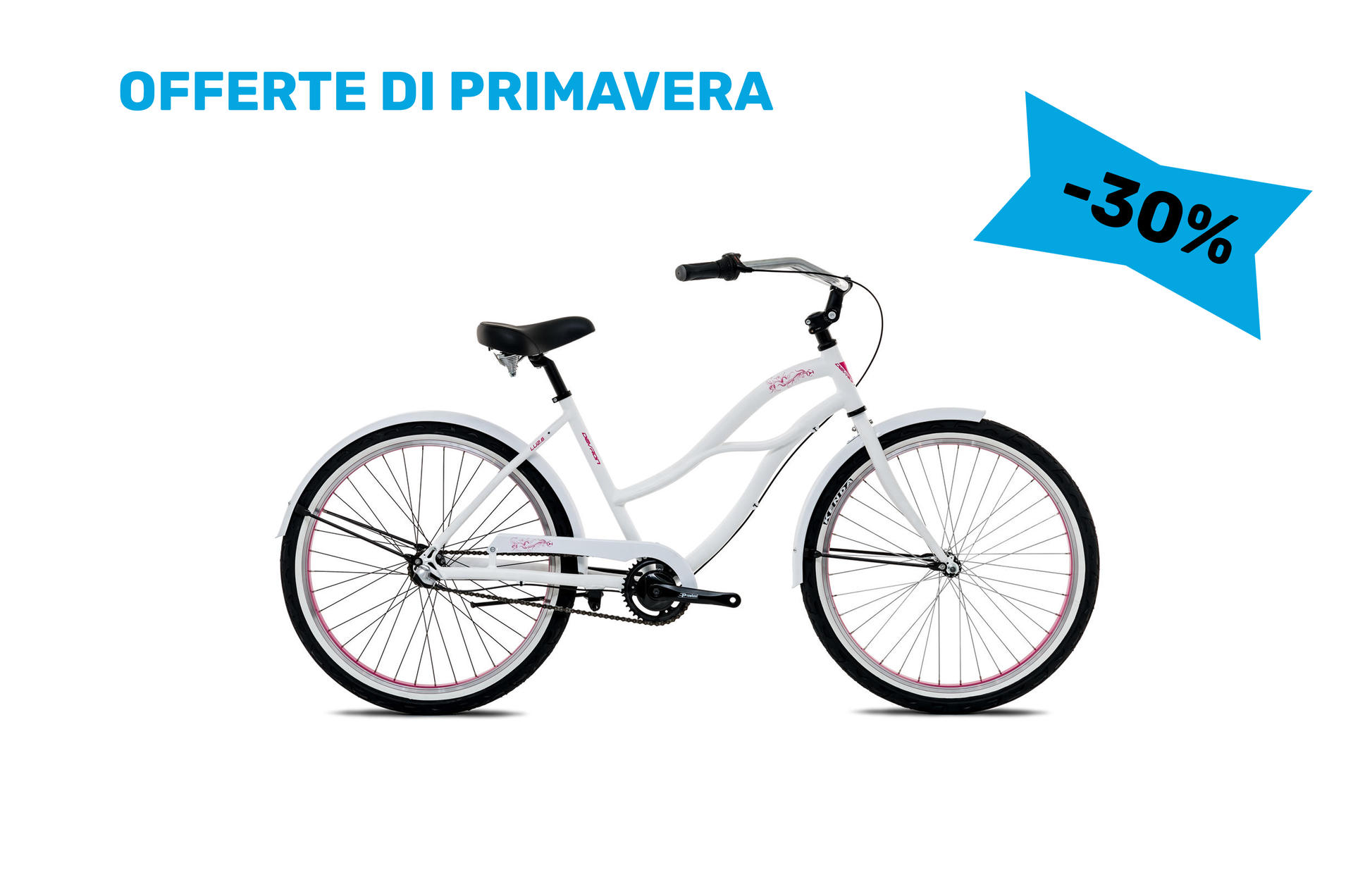 Bicicletta cruiser da donna Devron Lady Cruz.LU2.6 Ice White 445 mm