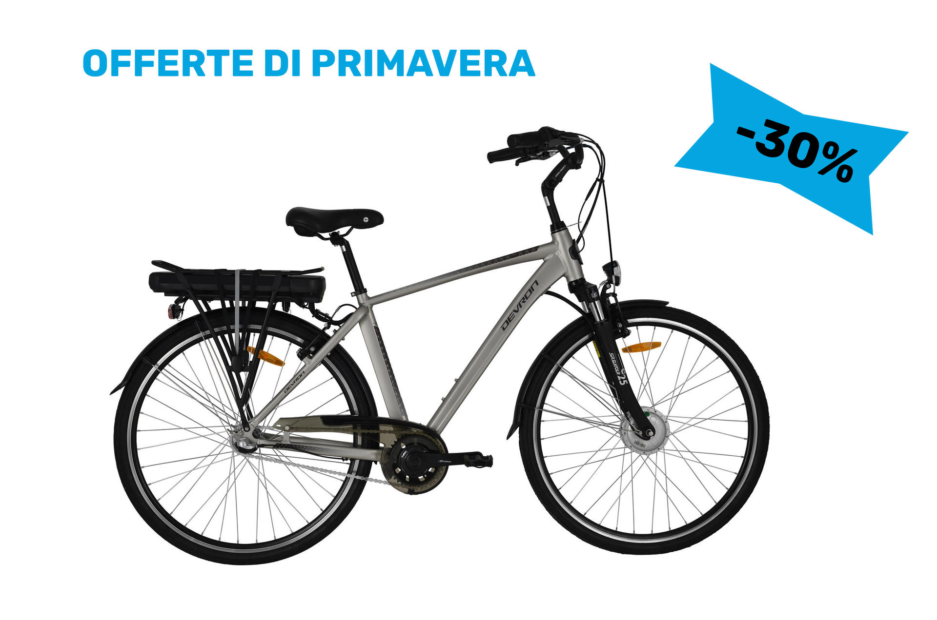 Bicicletta elettrica city bike Devron 28121 530mm Champagne -28