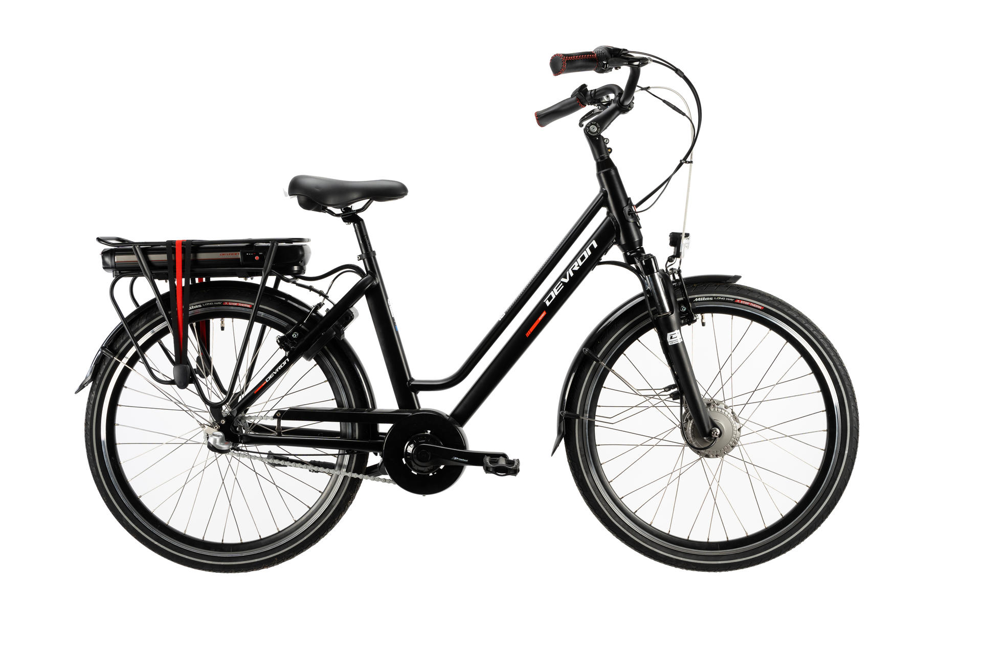 Bicicletta elettrica city bike DEVRON 28122-490 Black