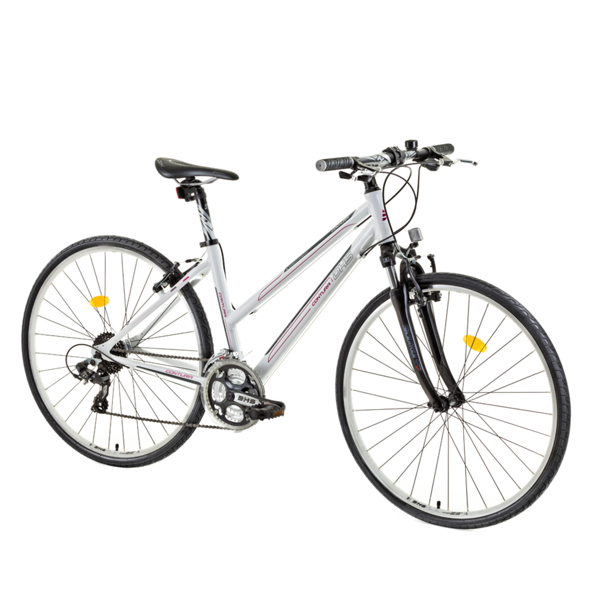 Bicicletta da cross da donna DHS 2866 White 440mm