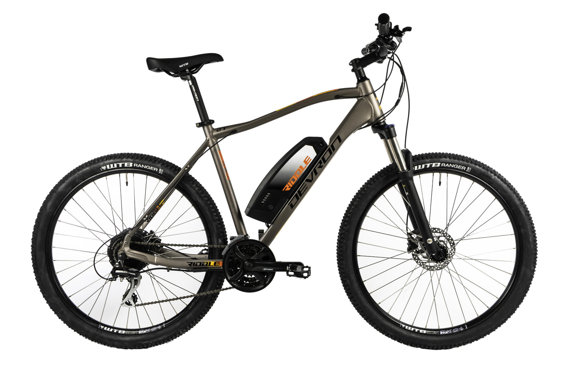 Mountain bike elettrica Devron Riddle M1.7 495mm Grey Matt -27