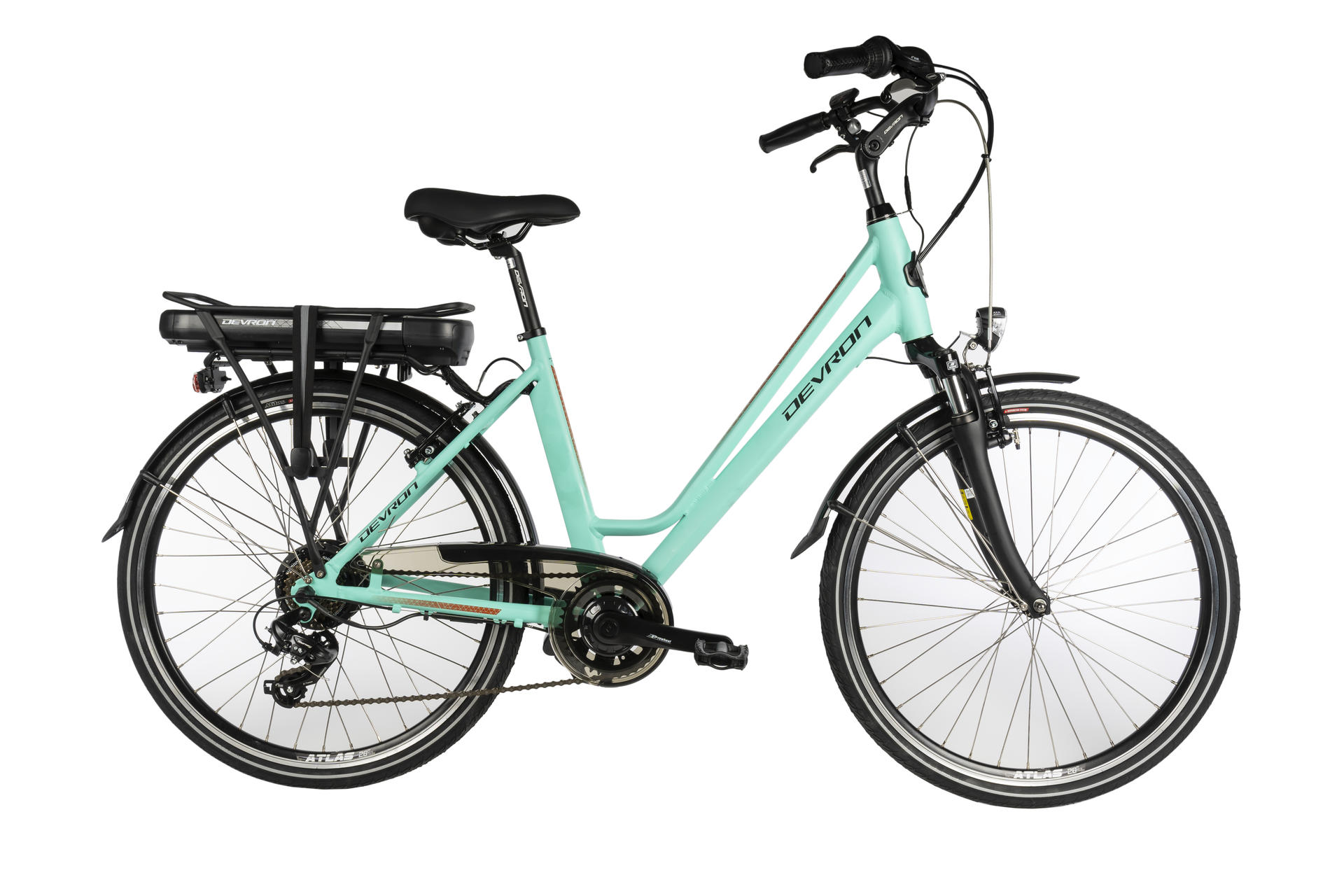 Bicicletta elettrica city bike DEVRON 26122 460mm  Blue Light