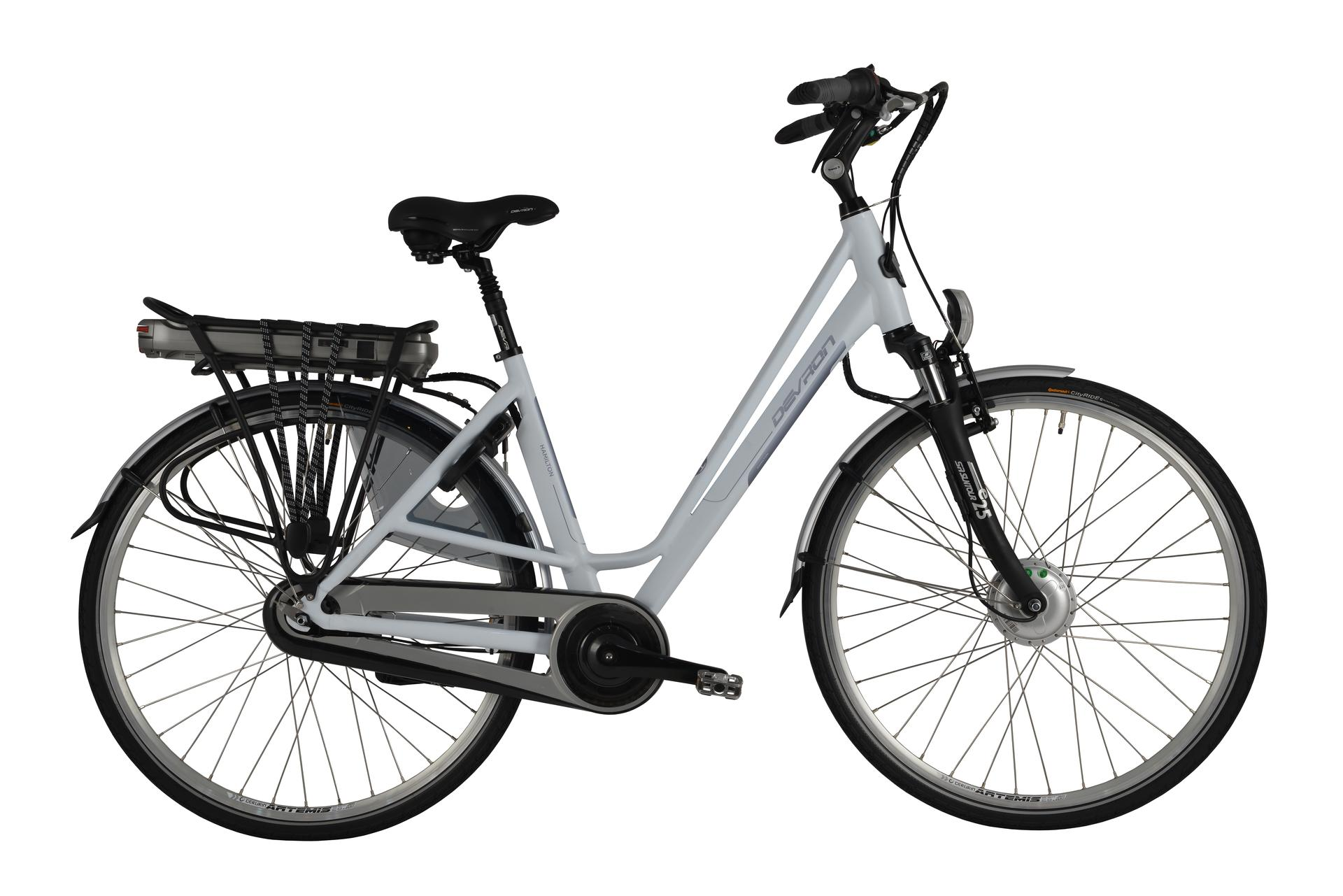 Bicicletta elettrica city bike Devron 28022 Matt White 490 mm --28