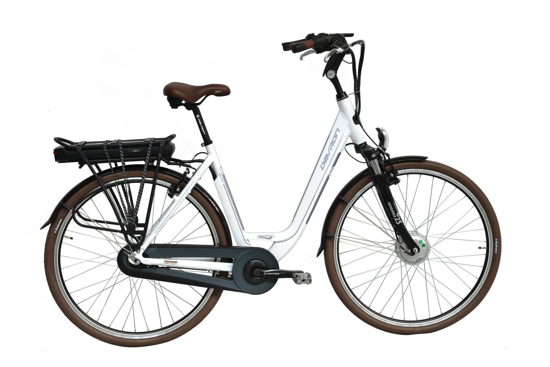 Bicicletta elettrica city bike Devron 28128 White Moon 490 mm