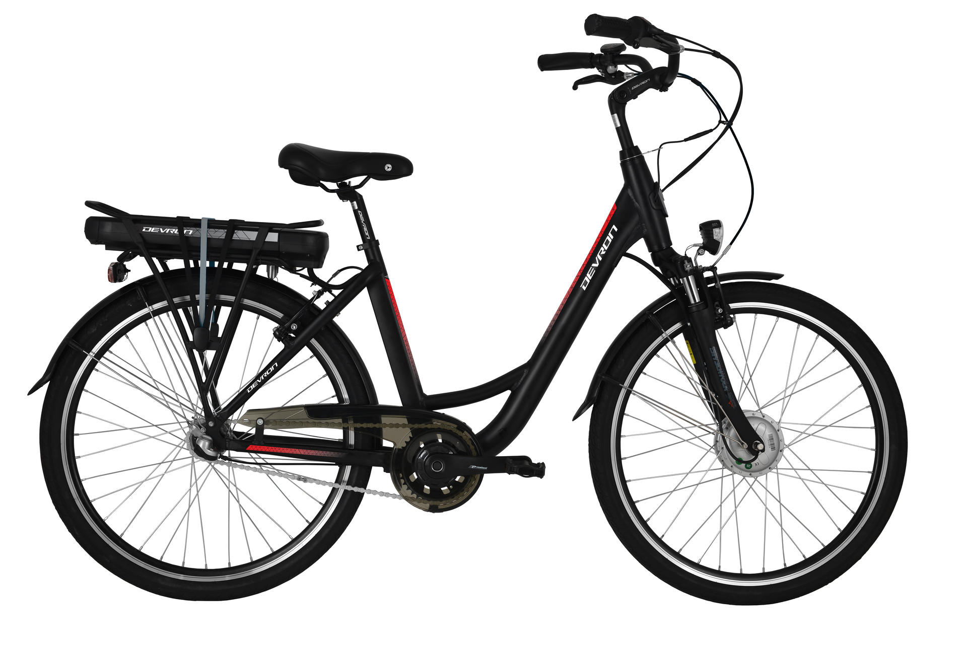 Bicicletta elettrica city bike DEVRON 26120 460mm Black Matt