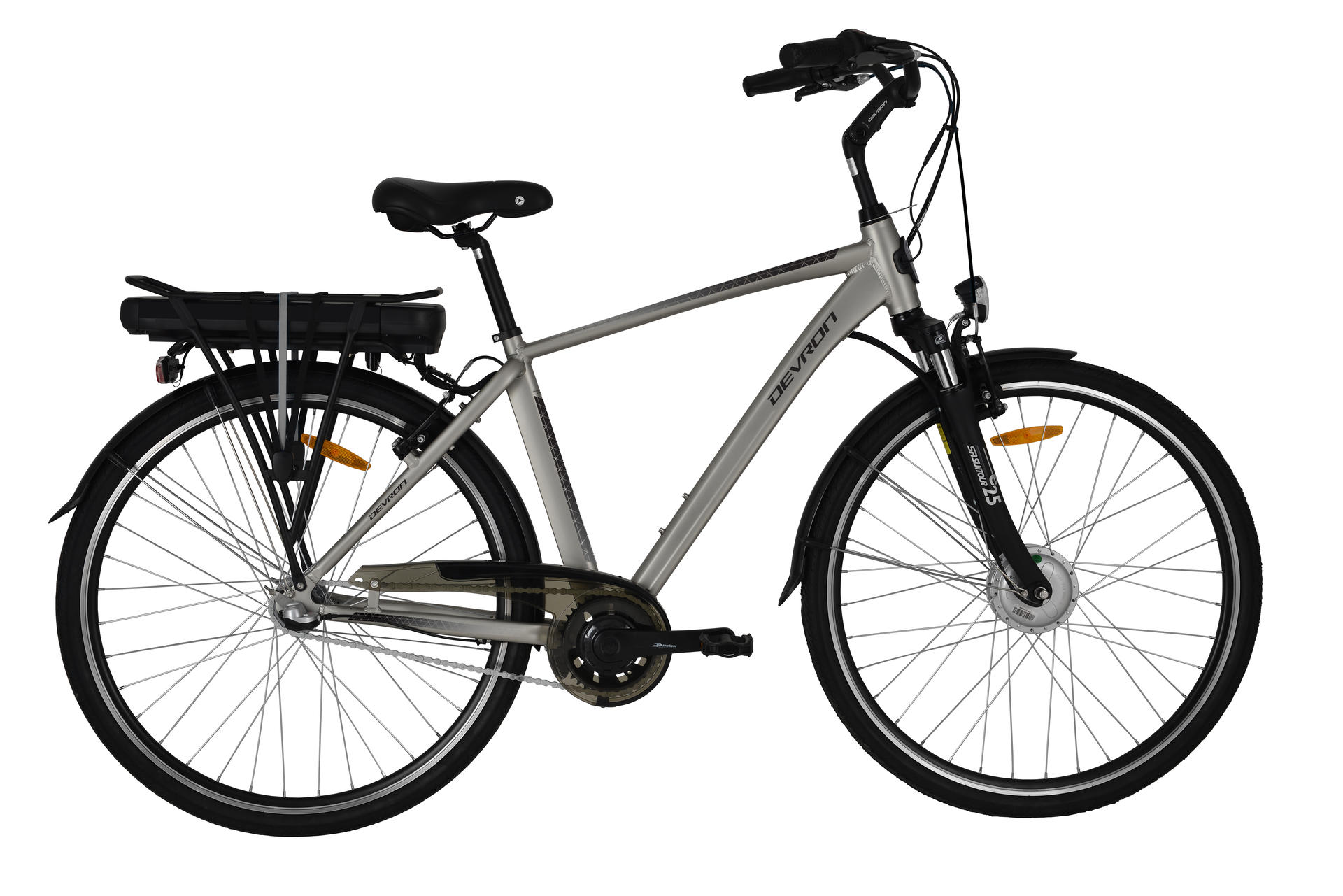 Bicicletta elettrica city bike Devron 28121 490mm Champagne