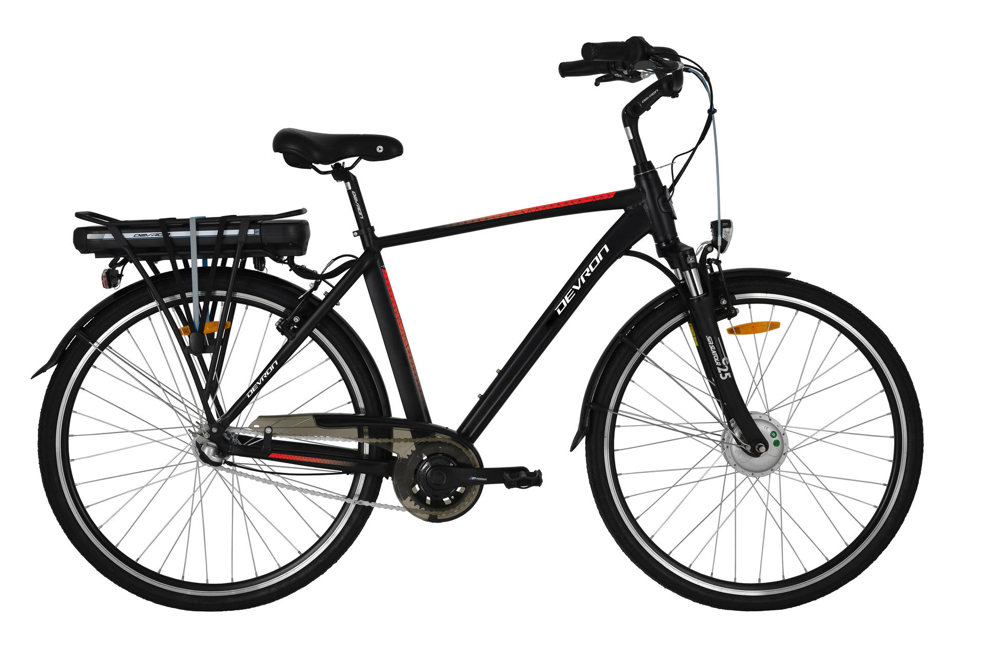 Bicicletta elettrica city bike Devron 28121 490mm Black Matt