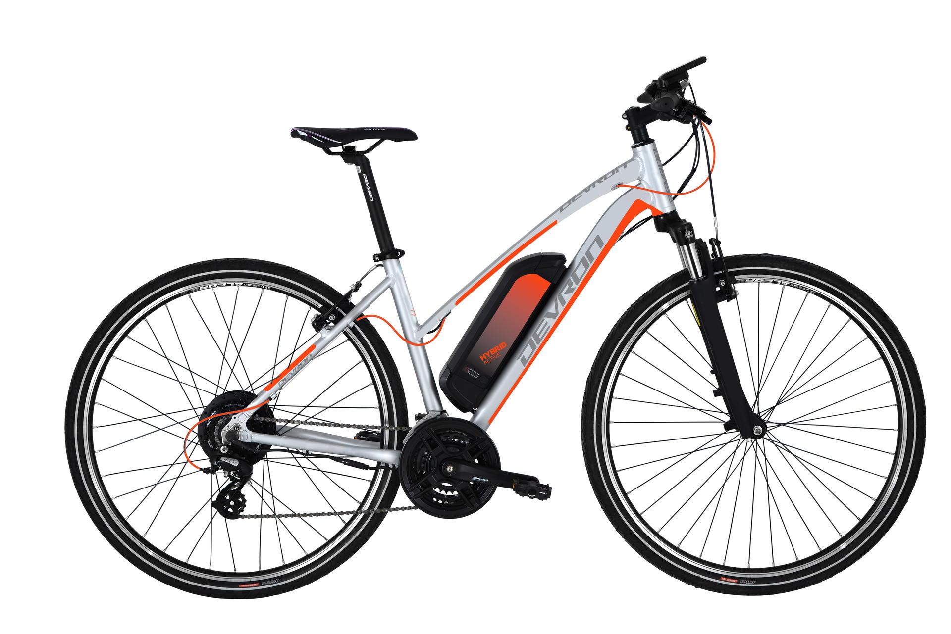 Bicicletta elettrica da cross DEVRON 28162 495mm Silver - 28