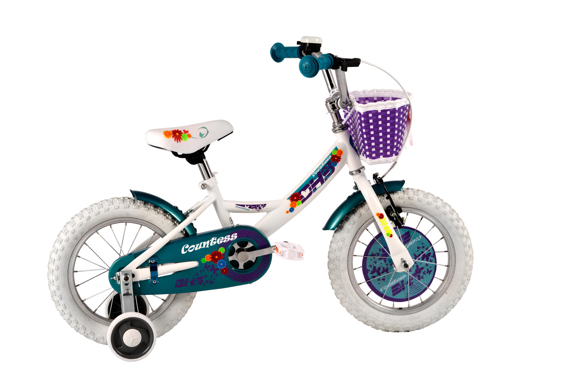 Bicicletta da bambini DHS Countess 1402 White