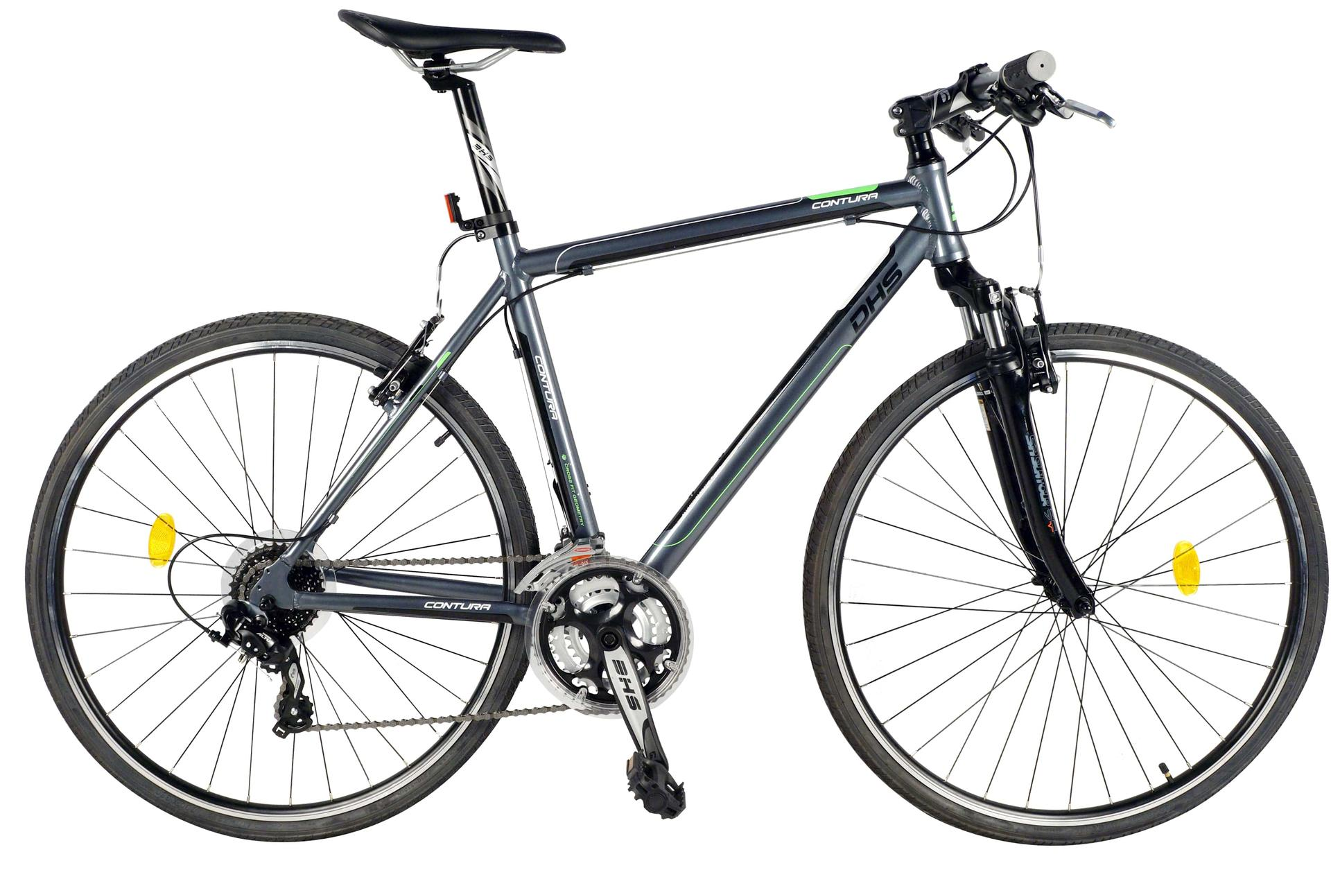 Bicicletta uomo da cross contura DHS 2865 Grey-Green 480 mm
