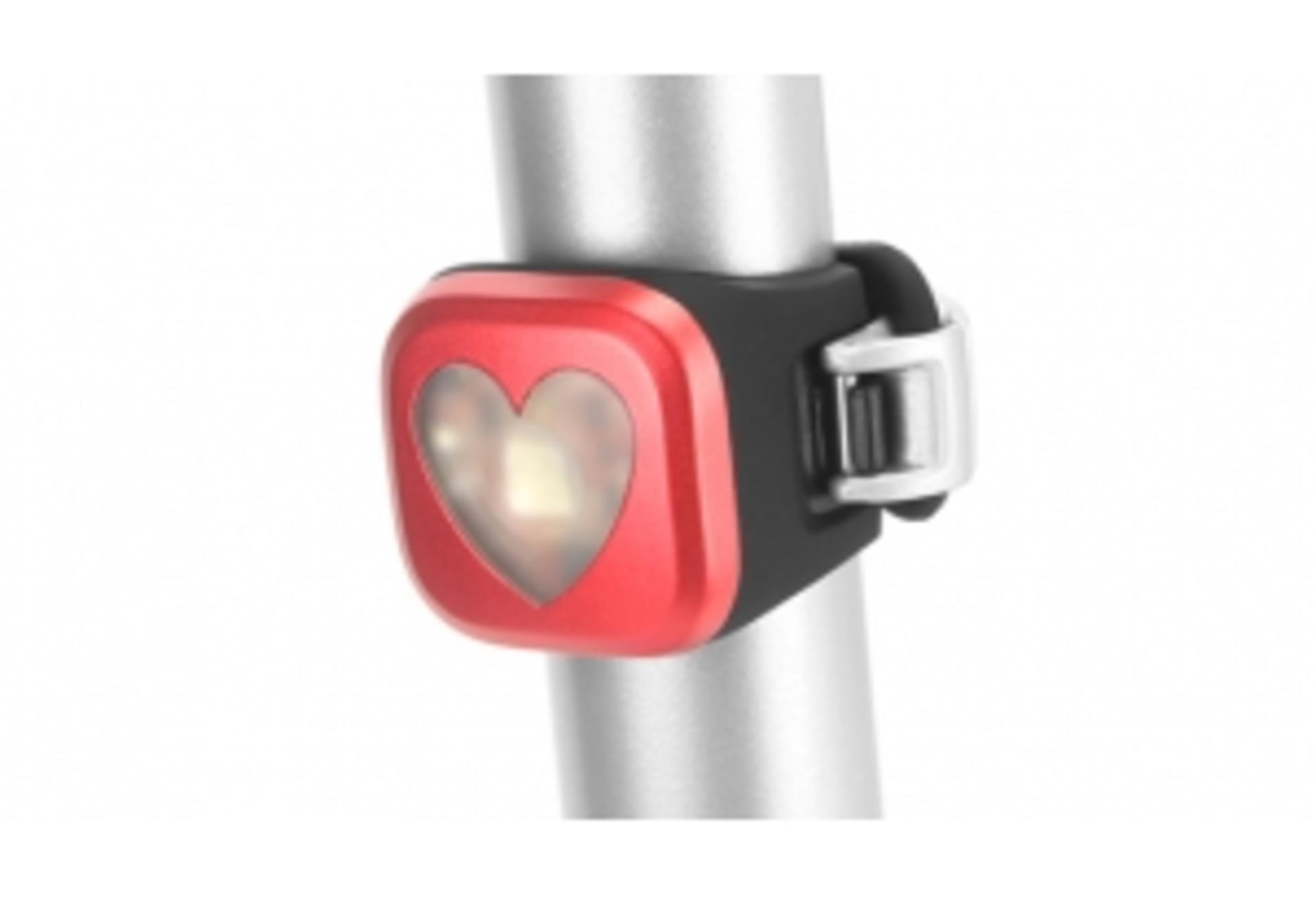Luce Knog Blinder 1 Heart Rosso - Posteriore