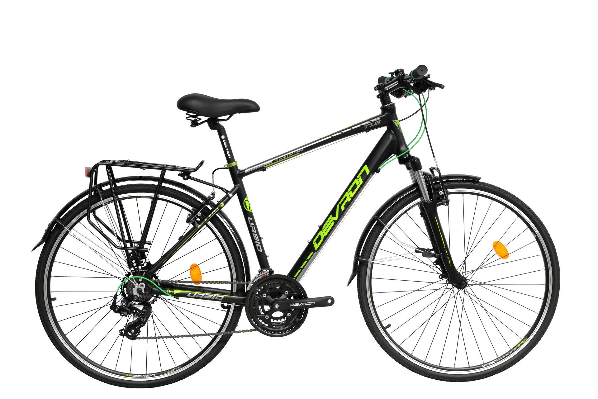 Bicicletta Uomo Da Trekking Devron Utrekt18 Fast Black 535 Mm