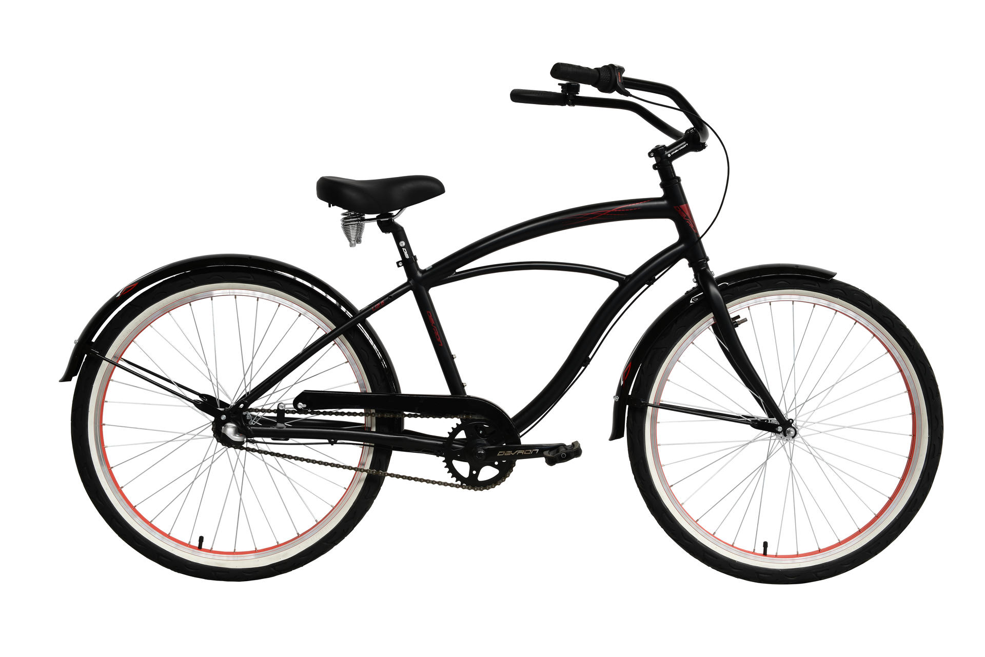 Bicicletta cruiser da uomo Devron Man U.Cruz.U2.6 Black Passion 470 mm