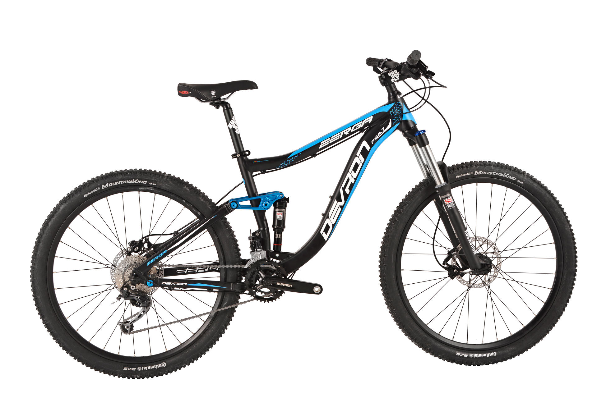 Mountain bike full suspension Devron Zerga FS6,7 430 mm Black-Blue
